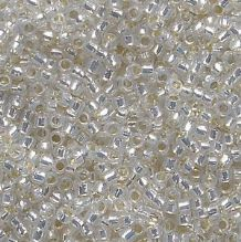 Toho 15/0 Seed Beads, Silver Lined Milky White 2100 - 5 grams